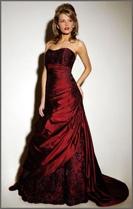 Wedding Dress on Loren   Red Wedding Dress Collection