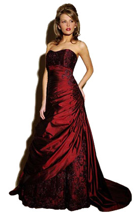 red wedding dress designers