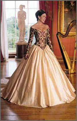 Red and gold wedding dresses pictures